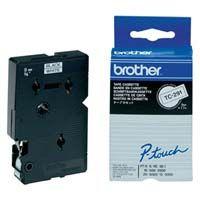 Brother originální páska do tiskárny štítků, Brother, TC-291, černý tisk/bílý podklad, laminovaná, 7.7m, 9mm